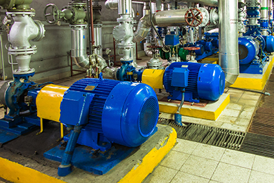 Industrial pump room
