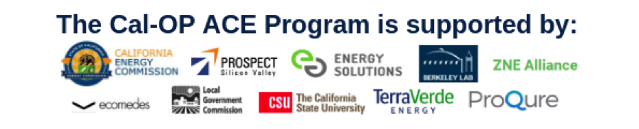 Cal-OP ACE program supporter logos