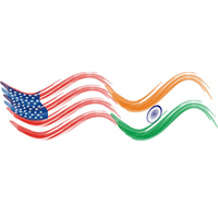 CBERD logo: the American and Indian flags connected