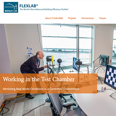 Screenshot of the FLEXLAB homepage