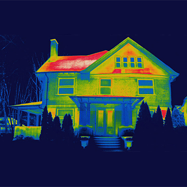Thermal reading of a house.