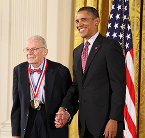 Art Rosenfeld receives the National Medal of Technology from President Obama