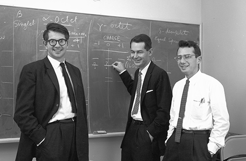 Sheldon Glashow, George Kalbfleisch, and Arthur Rosenfeld