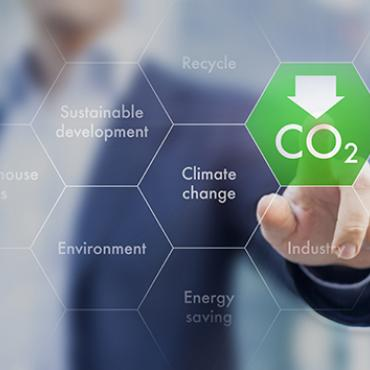 "person selecting ""reducing CO2"" option"