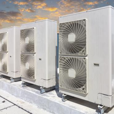 Commercial HVAC untis on a roof