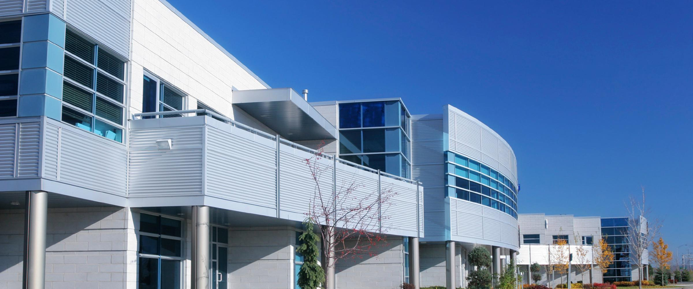 Exterior of a modern commercial building.